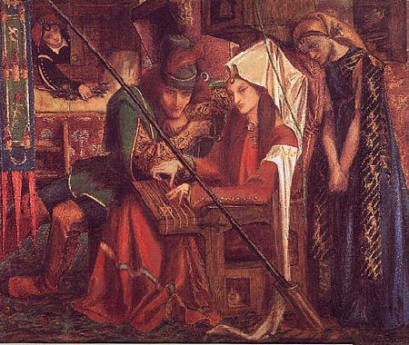 Dante Gabriel Rossetti The Tune of Seven Towers Germany oil painting art