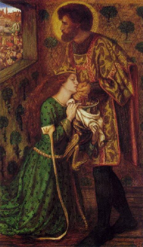 Dante Gabriel Rossetti St. George and the Princess Sabra Germany oil painting art