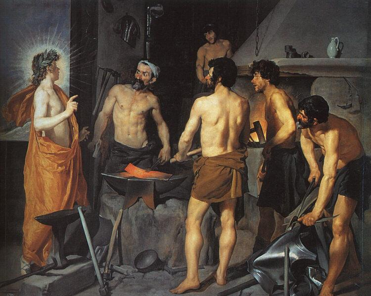 Diego Velazquez The Forge of Vulcan oil painting image