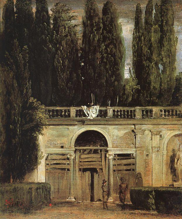 Diego Velazquez The Medici Gardens in Rome oil painting image