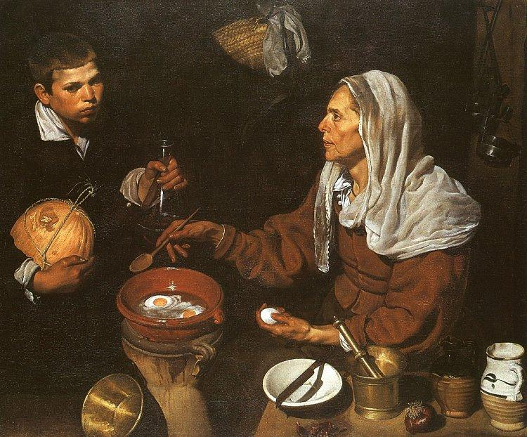 Diego Velazquez An Old Woman Cooking Eggs oil painting image