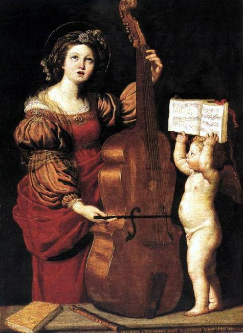 Domenichino St Cecilia dsw oil painting image