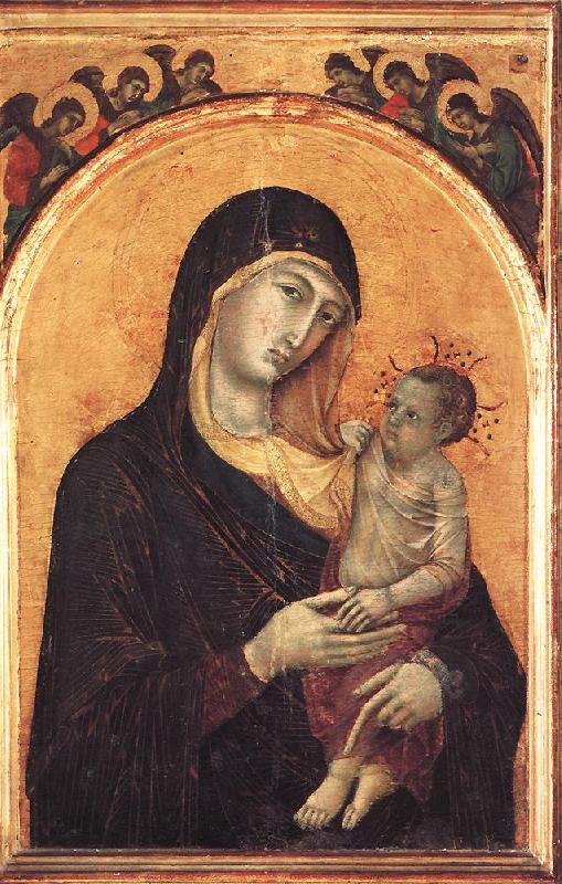 Duccio di Buoninsegna Madonna and Child with Six Angels dfg oil painting image