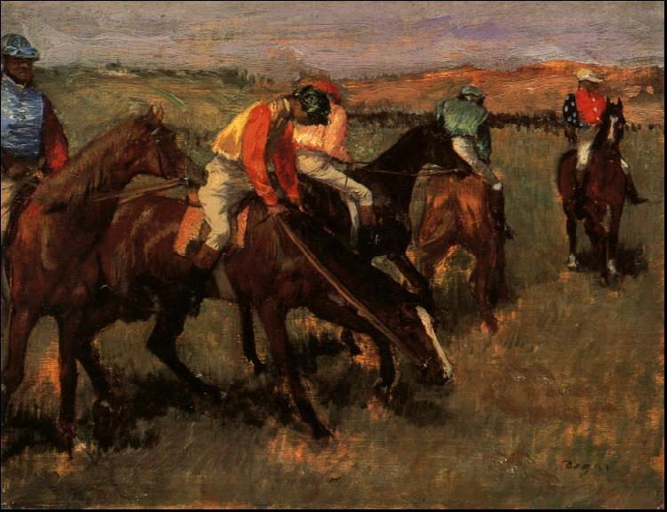 Edgar Degas Before the Race oil painting image