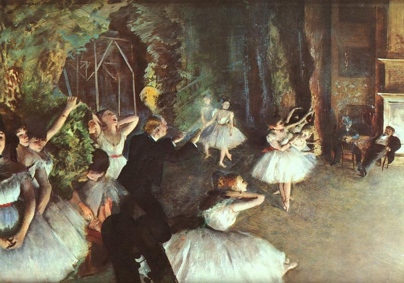 Edgar Degas Rehearsal on the Stage oil painting image