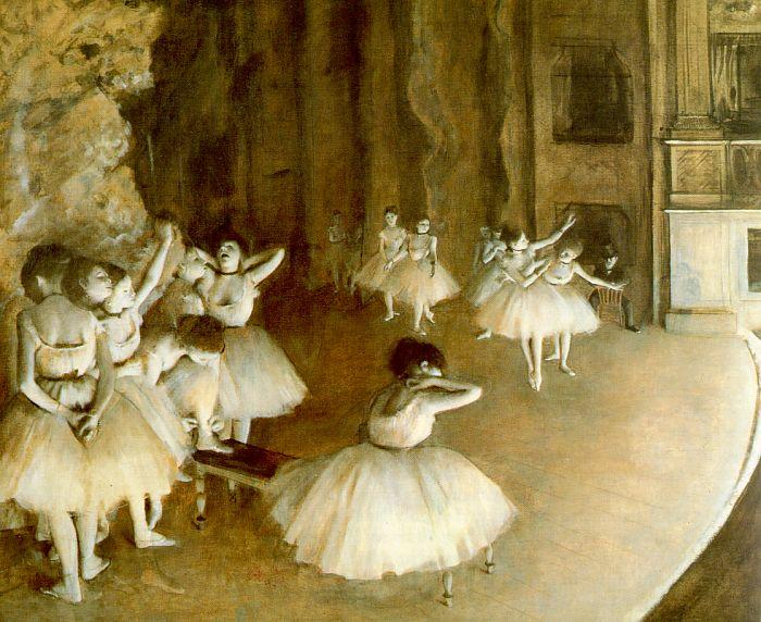 Edgar Degas Ballet Rehearsal on Stage oil painting image