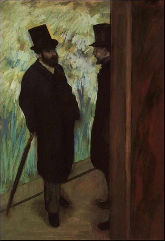 Edgar Degas Halevy and Cave Backstage at the Opera oil painting image