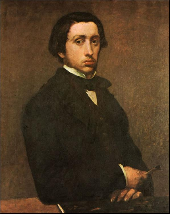 Edgar Degas Portrait of the Artist oil painting image