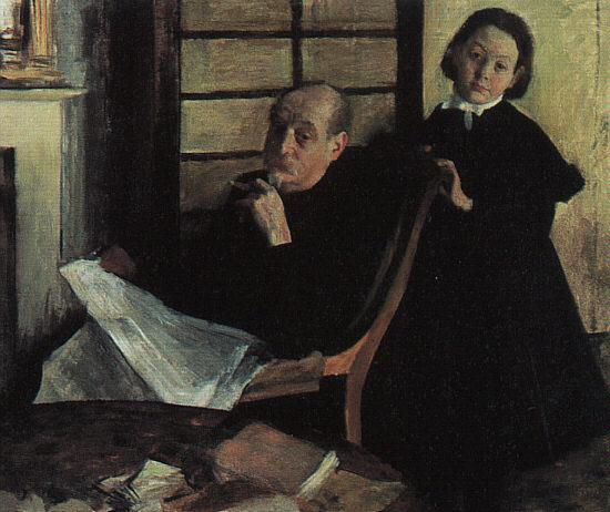 Edgar Degas Henri de Gas and his Niece Lucy oil painting image