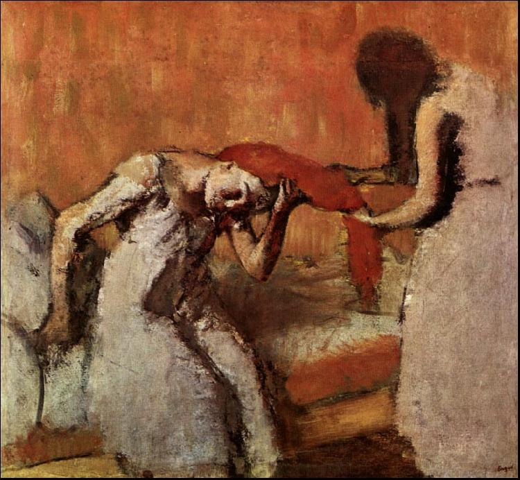 Edgar Degas Seated Woman Having her Hair Combed oil painting image