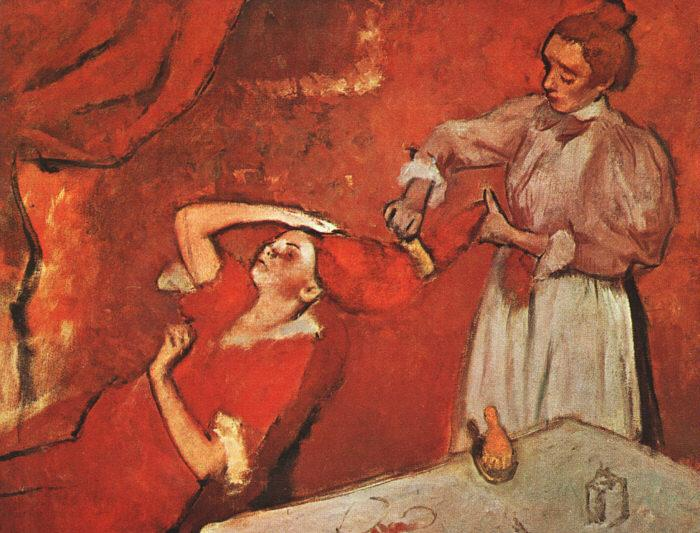Edgar Degas Combing the Hair oil painting image