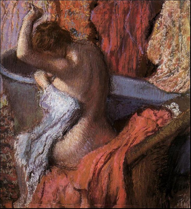 Edgar Degas Seated Bather Drying Herself oil painting image