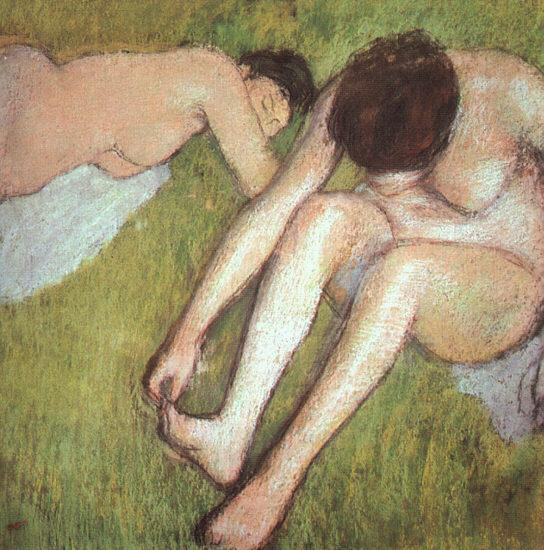 Edgar Degas Bathers on the Grass oil painting image