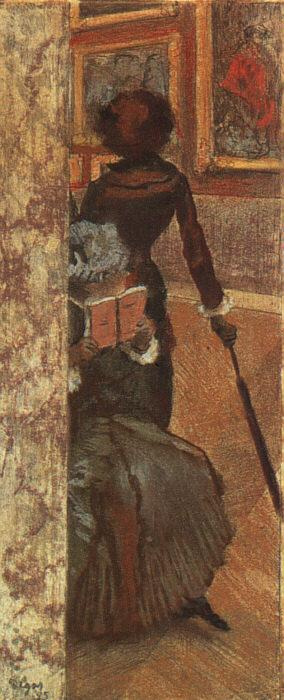 Edgar Degas Mary Cassatt and her sister at the Louvre oil painting image