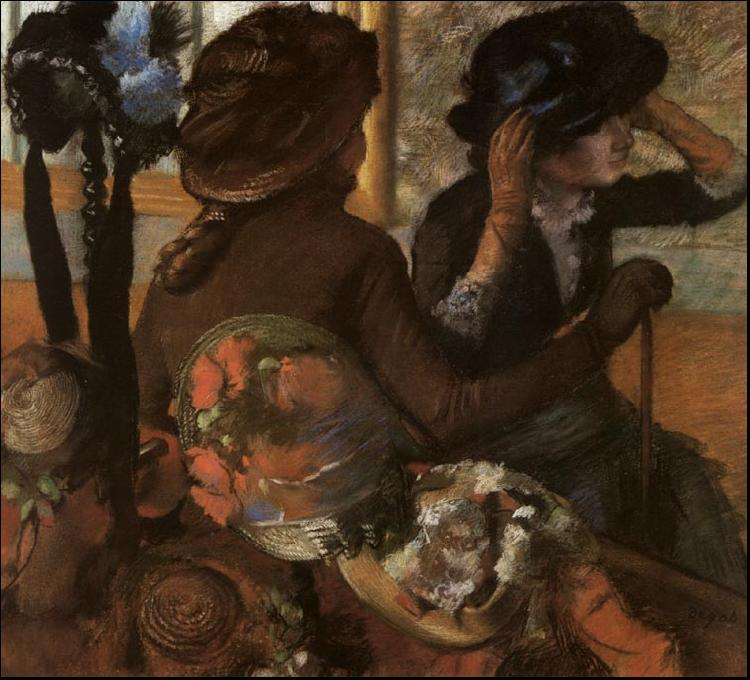 Edgar Degas At the Milliner's oil painting image