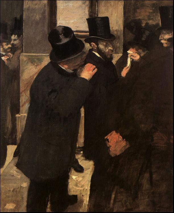 Edgar Degas At the Stock Exchange oil painting image
