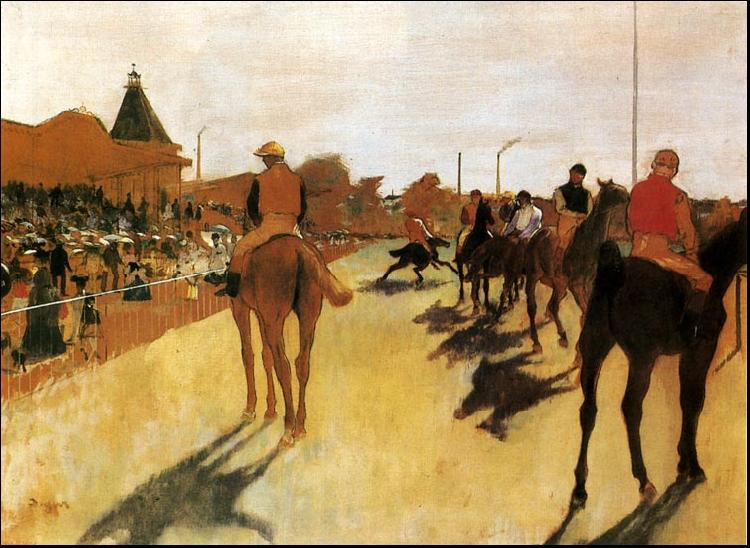 Edgar Degas Horses Before the Stands oil painting image