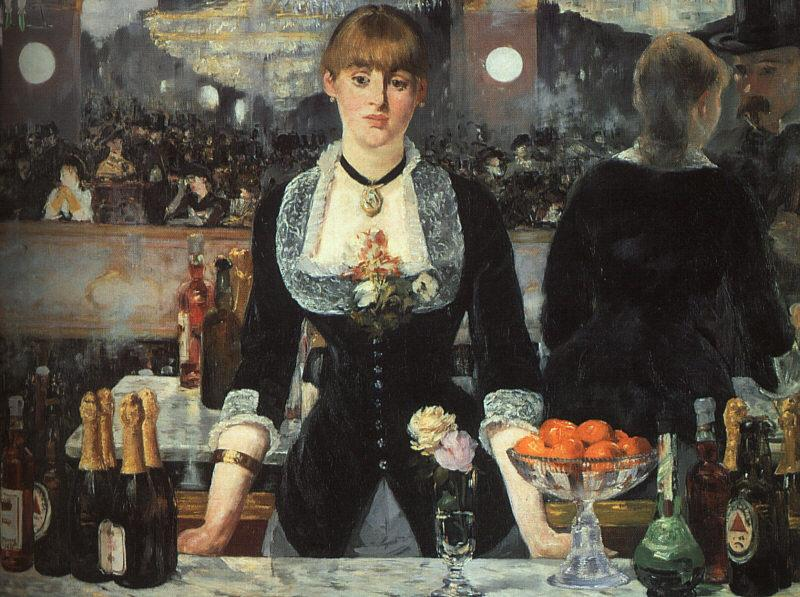 Edouard Manet The Bar at the Folies Bergere oil painting picture