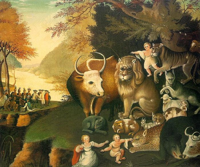 Edward Hicks The Peaceable Kingdom Germany oil painting art
