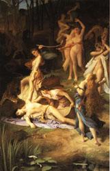 Emile Levy Death of Orpheus oil painting image