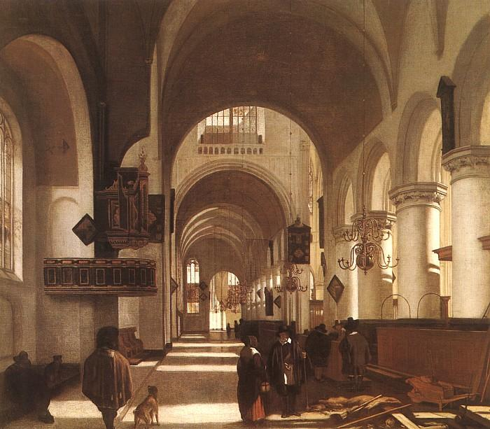 Emmanuel de Witte Interior of a Church oil painting image
