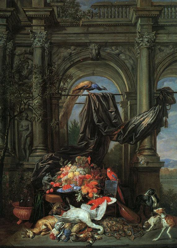 Erasmus Quellinus Still Life in an Architectural Setting Germany oil painting art