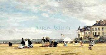 Eugene Boudin Jetty At Trouville oil painting image