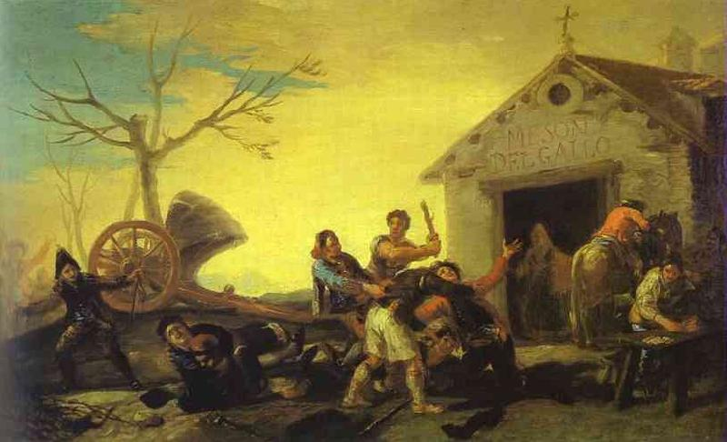 Francisco Jose de Goya Fight at Cock Inn oil painting image