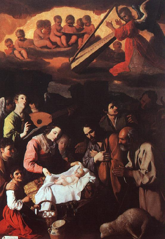 Francisco de Zurbaran The Adoration of the Shepherds_a oil painting image
