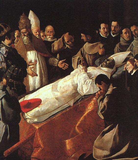 Francisco de Zurbaran The Lying in State of St.Bonaventura oil painting image