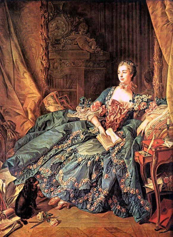 Francois Boucher The Marquise de Pompadour oil painting image