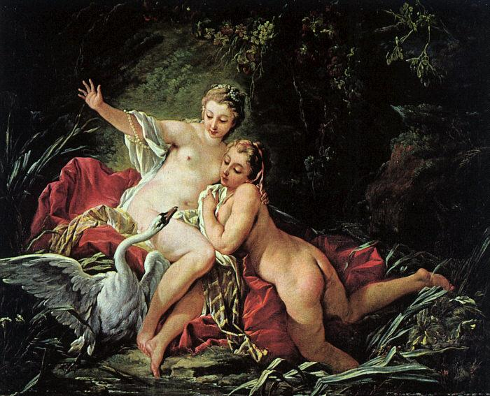 Francois Boucher Leda and the Swan oil painting image