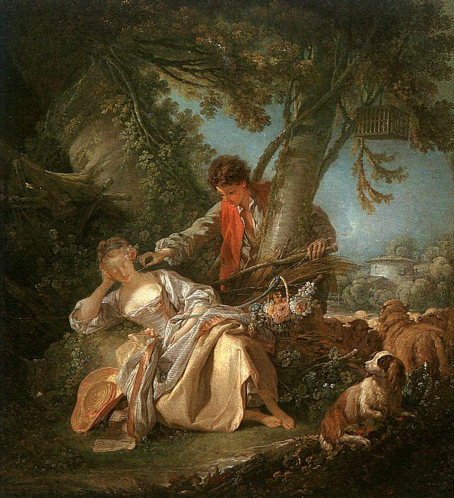 Francois Boucher The Sleeping Shepherdess oil painting image