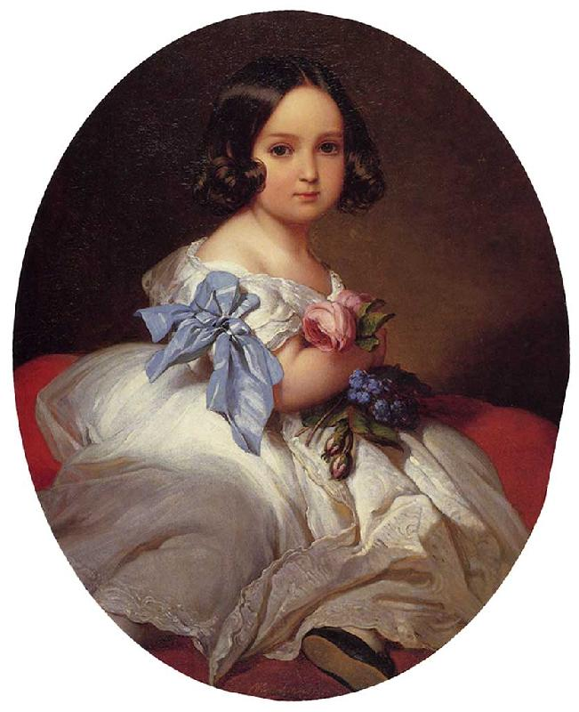 Franz Xaver Winterhalter Princess Charlotte of Belgium oil painting image