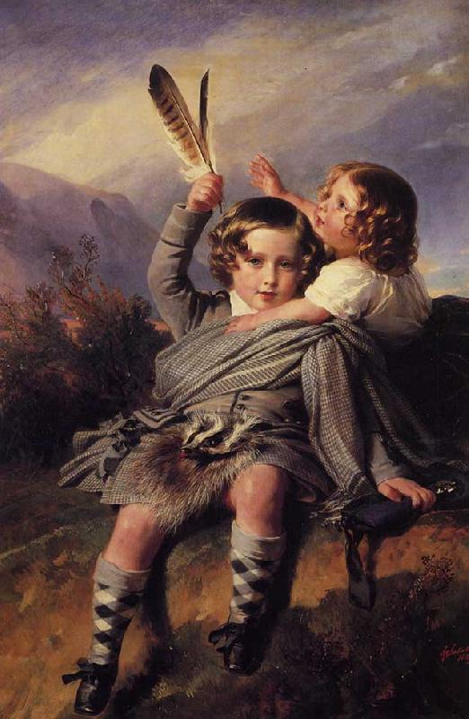 Franz Xaver Winterhalter Prince Alfred and Princess Helena oil painting image