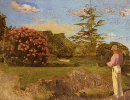 Frederic Bazille Little Gardener oil painting image