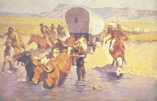 Frederick Remington The Emigrants Germany oil painting art