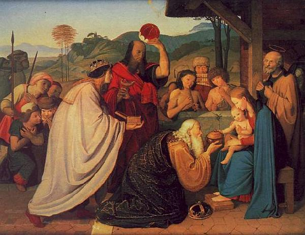 Friedrich Johann Overbeck The Adoration of the Magi 2 oil painting image