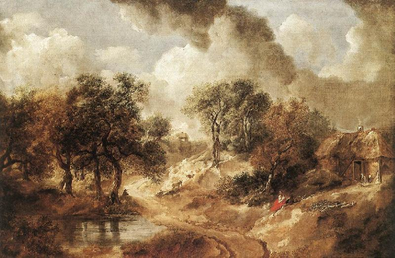 GAINSBOROUGH, Thomas Landscape in Suffolk sdg oil painting image