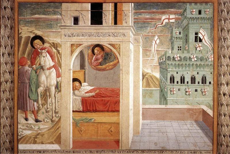 GOZZOLI, Benozzo Scenes from the Life of St Francis (Scene 2, north wall) cd oil painting image