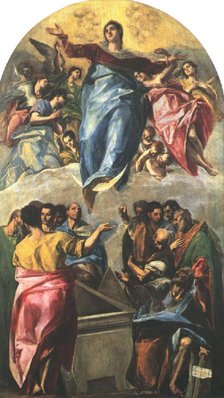 GRECO, El Assumption of the Virgin dfg oil painting picture