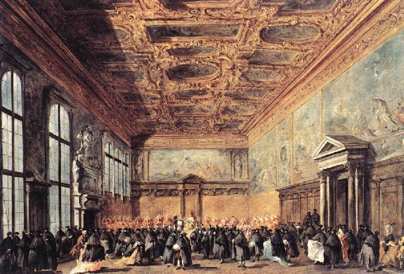 GUARDI, Francesco Audience Granted by the Doge dfh oil painting image