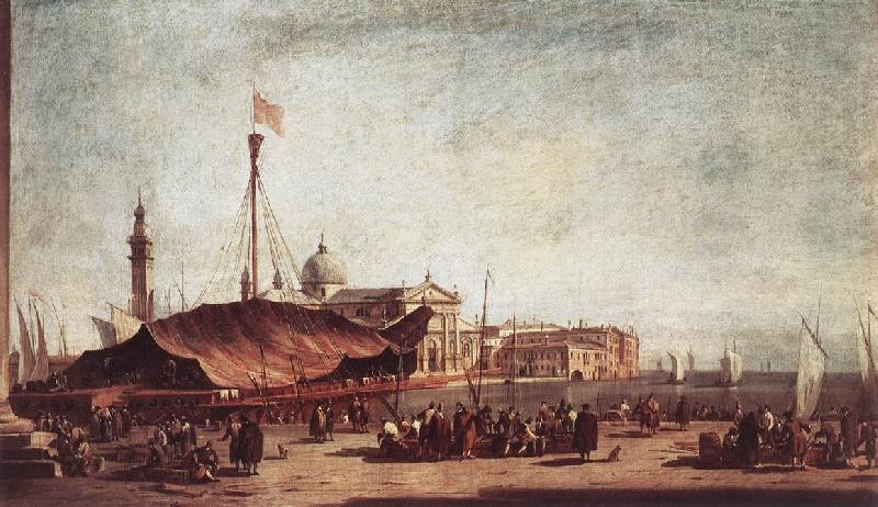 GUARDI, Francesco The Piazzetta, Looking toward San Giorgio Maggiore dh oil painting image