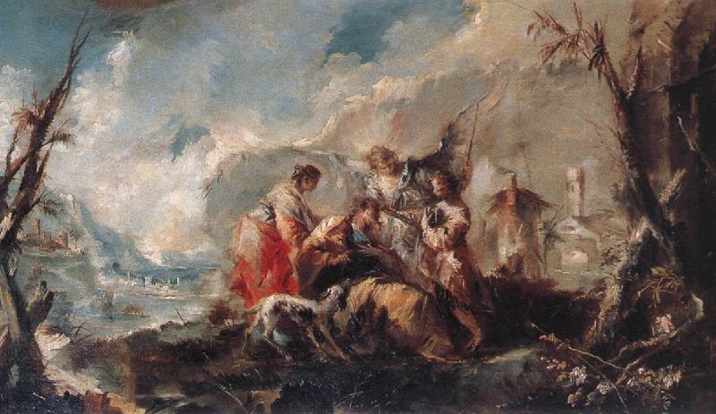 GUARDI, Gianantonio The Healing of Tobias s Father oil painting image