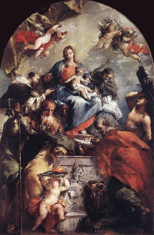 GUARDI, Gianantonio Madonna and Child with Saints kh oil painting image