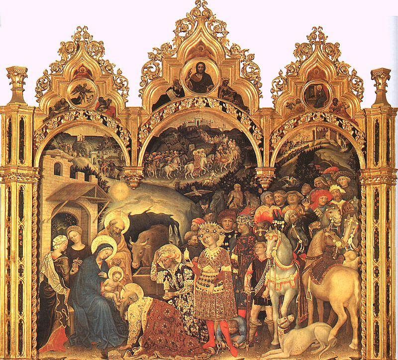 Gentile da  Fabriano The Adoration of the Magi3 oil painting image