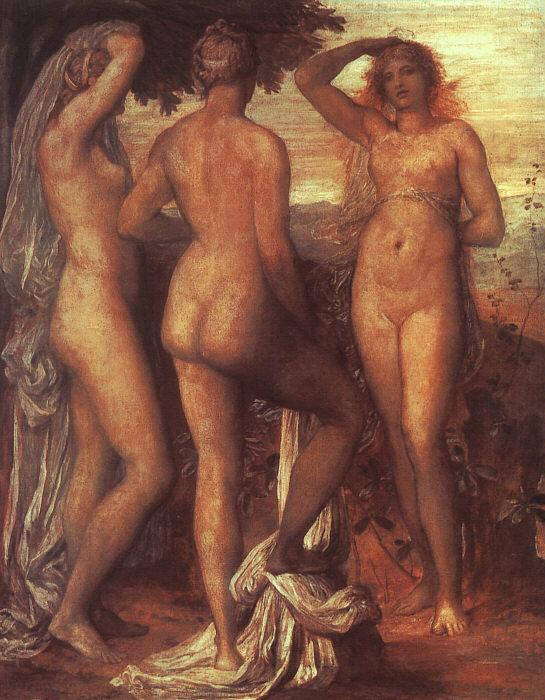 George Frederick The Judgment of Paris oil painting image