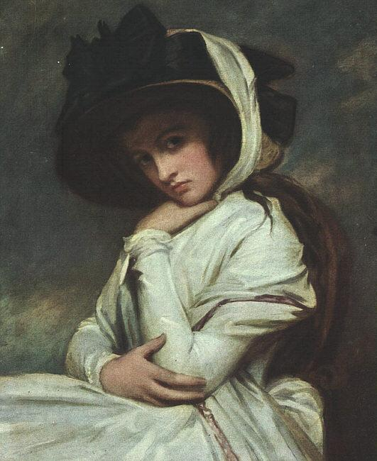 George Romney Lady Hamilton in a Straw Hat Germany oil painting art