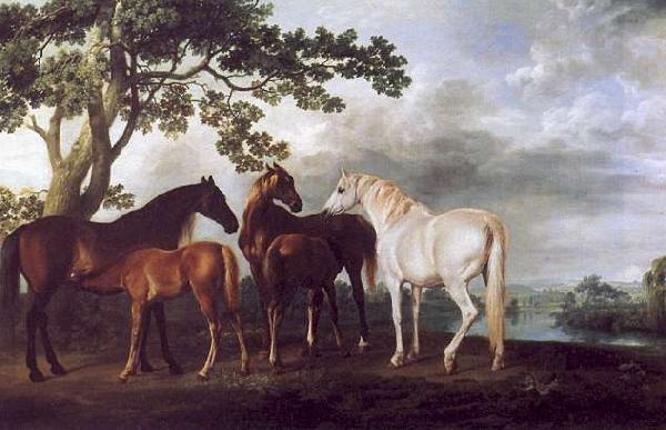 George Stubbs Mares and Foals in a Landscape Germany oil painting art
