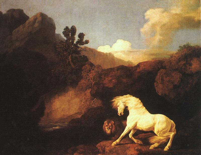 George Stubbs A Horse Frightened by a Lion Germany oil painting art